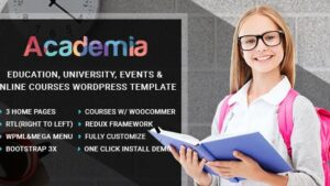 Academia – Education Center WordPress Theme