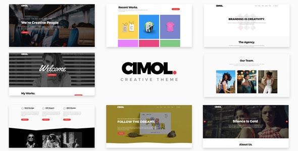 Cimol Responsive One & Multi Page Portfolio Theme