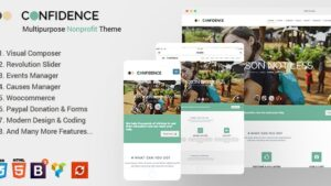 Confidence Multipurpose WordPress Nonprofit Charity Theme