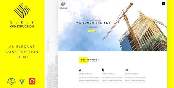 Construction Civil Engineer WordPress Theme