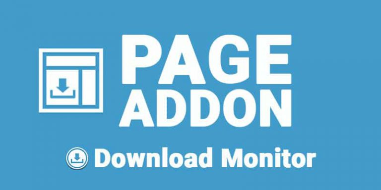 Download Monitor Page Addon