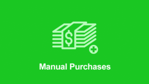 Easy Digital Downloads Manual Purchases Addon