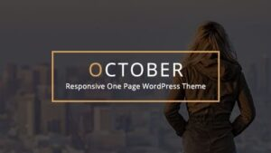 October Responsive One Page WordPress Theme