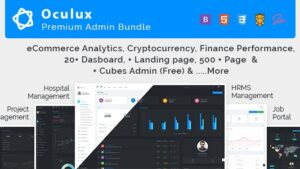 Oculux Mega Bundle - Responsive Admin Dashboard Template & ui kit