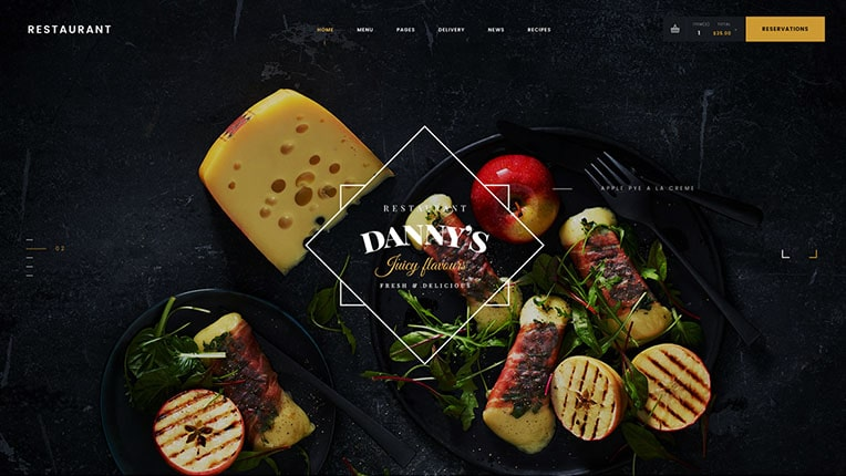 Restaurant Dannys WordPress Theme