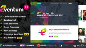 Eventum - Conference & Event WordPress Theme with Ticket Selling Feature