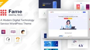 Fame - Digital Technology Service WordPress Theme