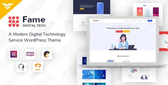Fame - Digital Technology Service WordPress Theme