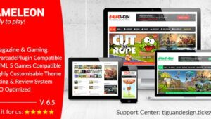 Gameleon WordPress Arcade Theme & News Magazine