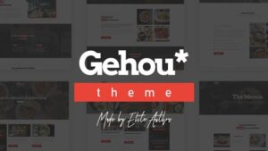Gehou A Modern Restaurant & Cafe Theme