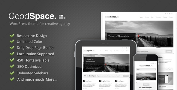 Good Space - Responsive Minimal WP Theme