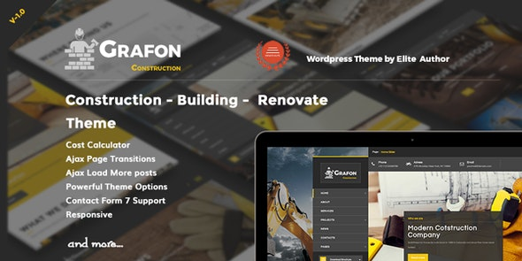 Grafon - Construction Building Renovate Wordpress Theme