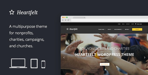 Heartfelt Humanitarian Responsive WordPress Theme