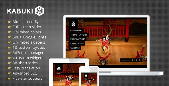 Kabuki Luxury Portfolio Agency WordPress Theme