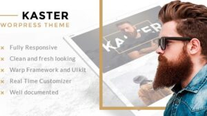 Kaster Creative portfolio WordPress Theme