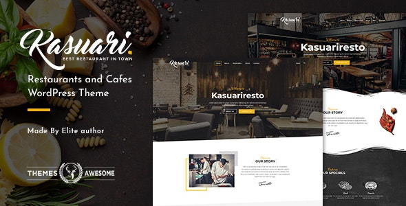 Kasuari Restaurants and Cafes WordPress Theme
