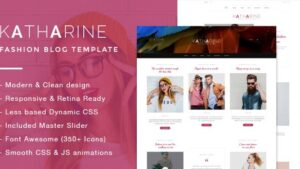 Katharine Modern Fashion Blog Template