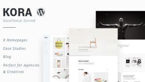 Kora Portfolio Agency WordPress Theme