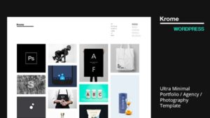 Krome WordPress Minimal Creative Portfolio Agency Photography Theme