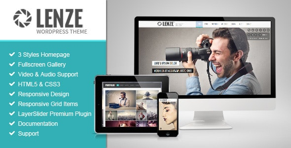 Lenze Portfolio Photography WordPress Theme