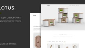 Lotus Modern Minimal WordPress WooCommerce Theme