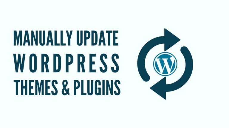 How to Manually Update WordPress Themes and Plugins