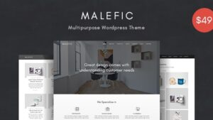 Malefic Multipurpose One Page Responsive WordPress Theme