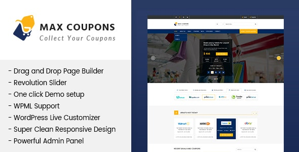 Max Coupons Couponry & Deals WordPress Theme