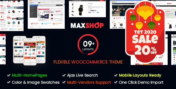 Maxshop Top Multipurpose WordPress Theme for WooCommerce