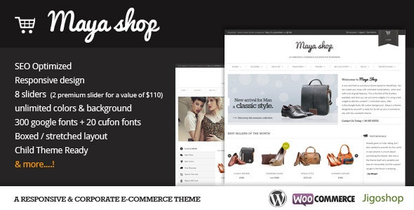 MayaShop A Flexible Responsive e-Commerce Theme
