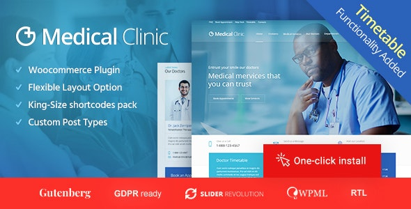 Medical Clinic Doctor and Hospital Health WordPress Theme