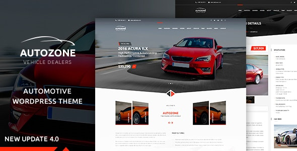 Autozone Auto Dealer & Car Rental Theme