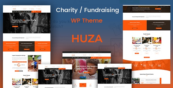 Huza Charity Responsive WordPress Theme