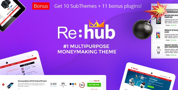 REHub Multi Vendor Marketplace Affiliate Marketing Community Theme