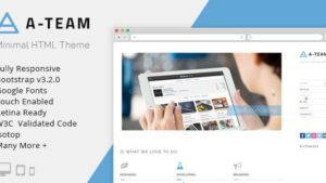 A-TEAM Minimal & Responsive HTML5 Blog Template