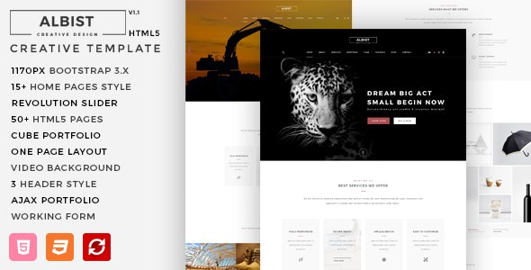 ALBIST Creative Multipurpose HTML5 Template