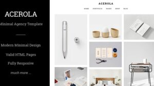 Acerola Ultra Minimalist Agency HTML Template