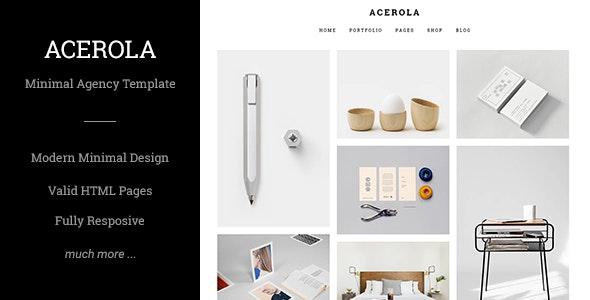 Acerola Ultra Minimalist Agency HTML Template