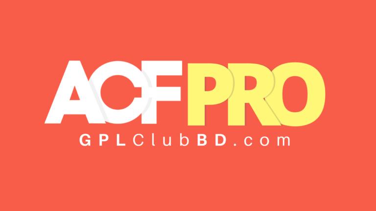 Advanced Custom Fields Pro WordPress Plugin