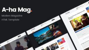 AhaMag Modern Magazine HTML Template