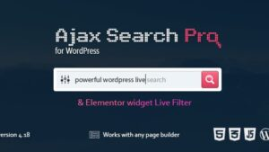 Ajax Search Pro Live WordPress Search & Filter Plugin