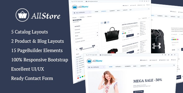 AllStore MultiConcept eCommerce Shop Template