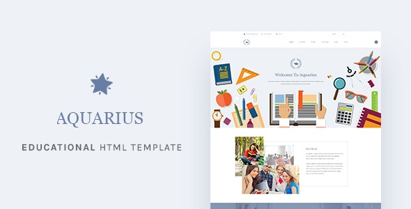 Aquarius Educational University HTML Template