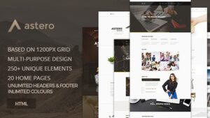 Astero Creative MultiPurpose Component Based HTML5 Template