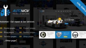 Automov Car Repair Auto Car Services HTML Template