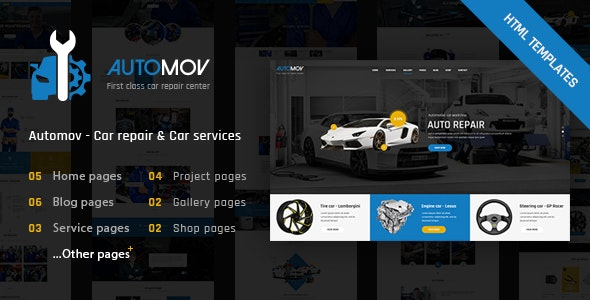 Automov Car Repair Auto Car Services HTML Template