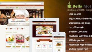 BellaMotel Food Restaurant Recipe HTML