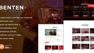Benten Responsive One Page Portfolio HTML Template