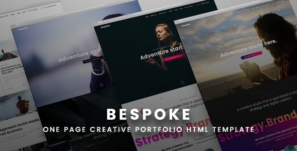 Bespoke One Page Creative HTML Template