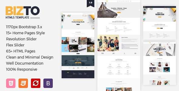 BizTo MultiPurpose HTML5 Template